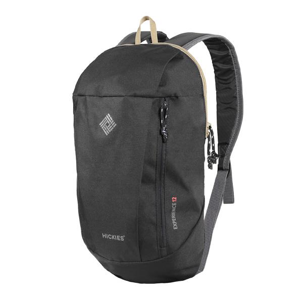 히키스 등산 캠핑 라이딩 여행 초경량 홀리데이 백팩 12L, 블랙