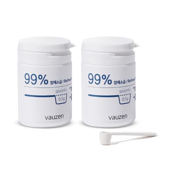 바우젠 전해수기 전용 정제소금, 2개, 70g
