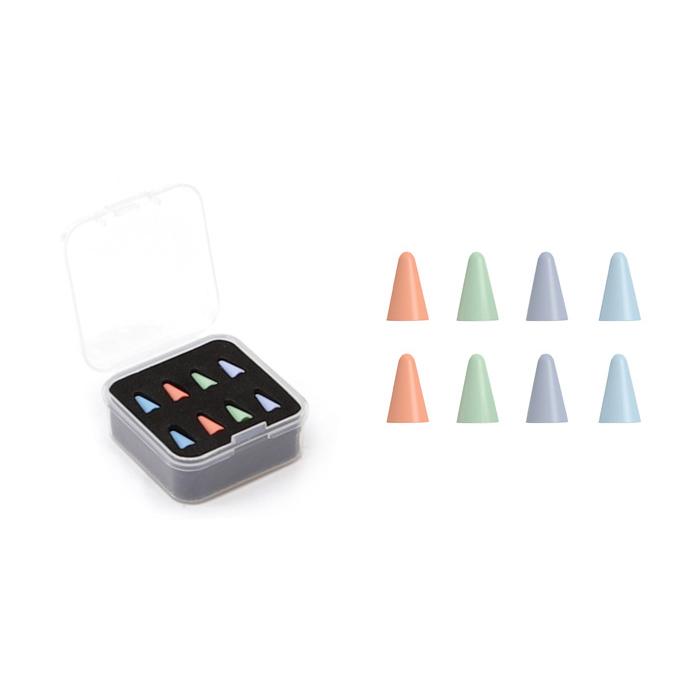 PZOZ 애플펜슬 펜촉커버 보호팁 전문가용 하드믹스 4종 x 2p 세트, 혼합색상, 1세트