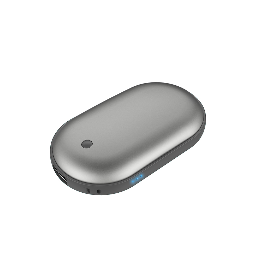 애니클리어 USB 충전식 보조배터리 케이블 겸 휴대용 손난로 전기 핫팩, iGPB-HOT3, 티타늄