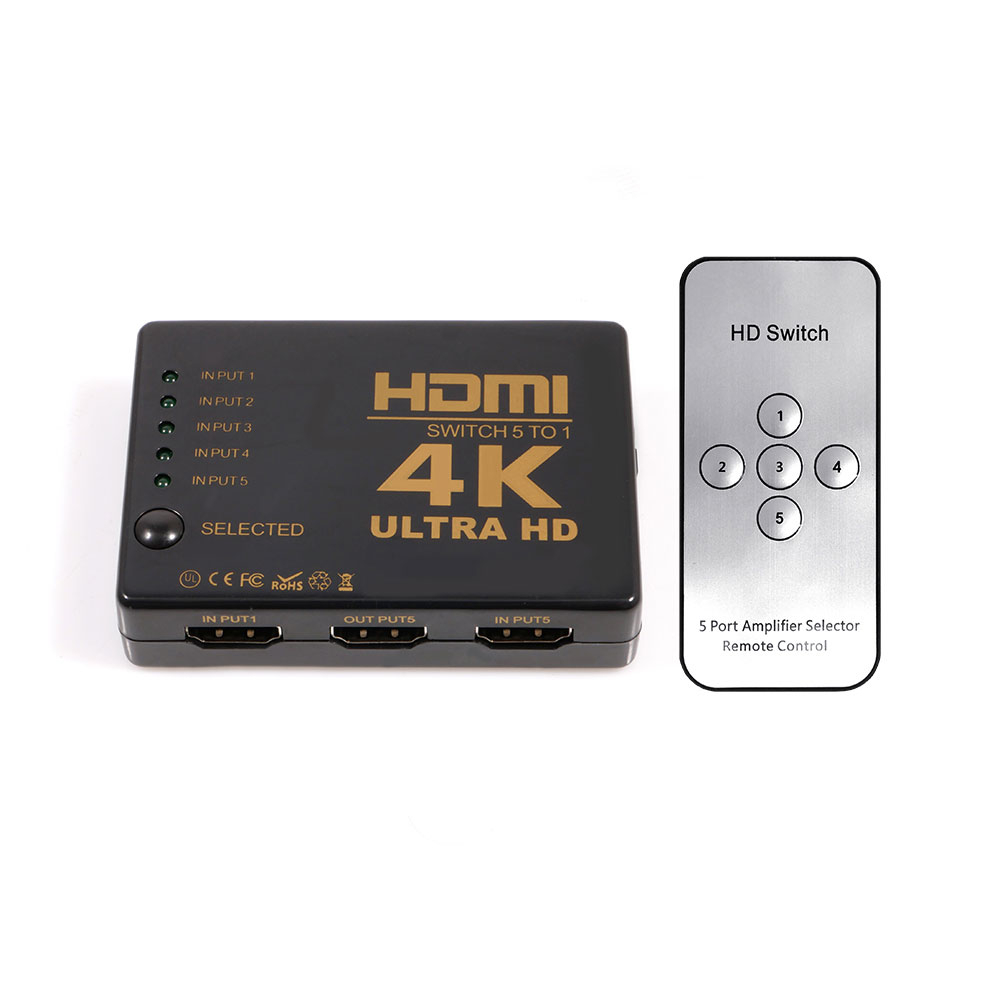 넥스트 5대1 HDMI 선택기 UHD 4K, 단일색상