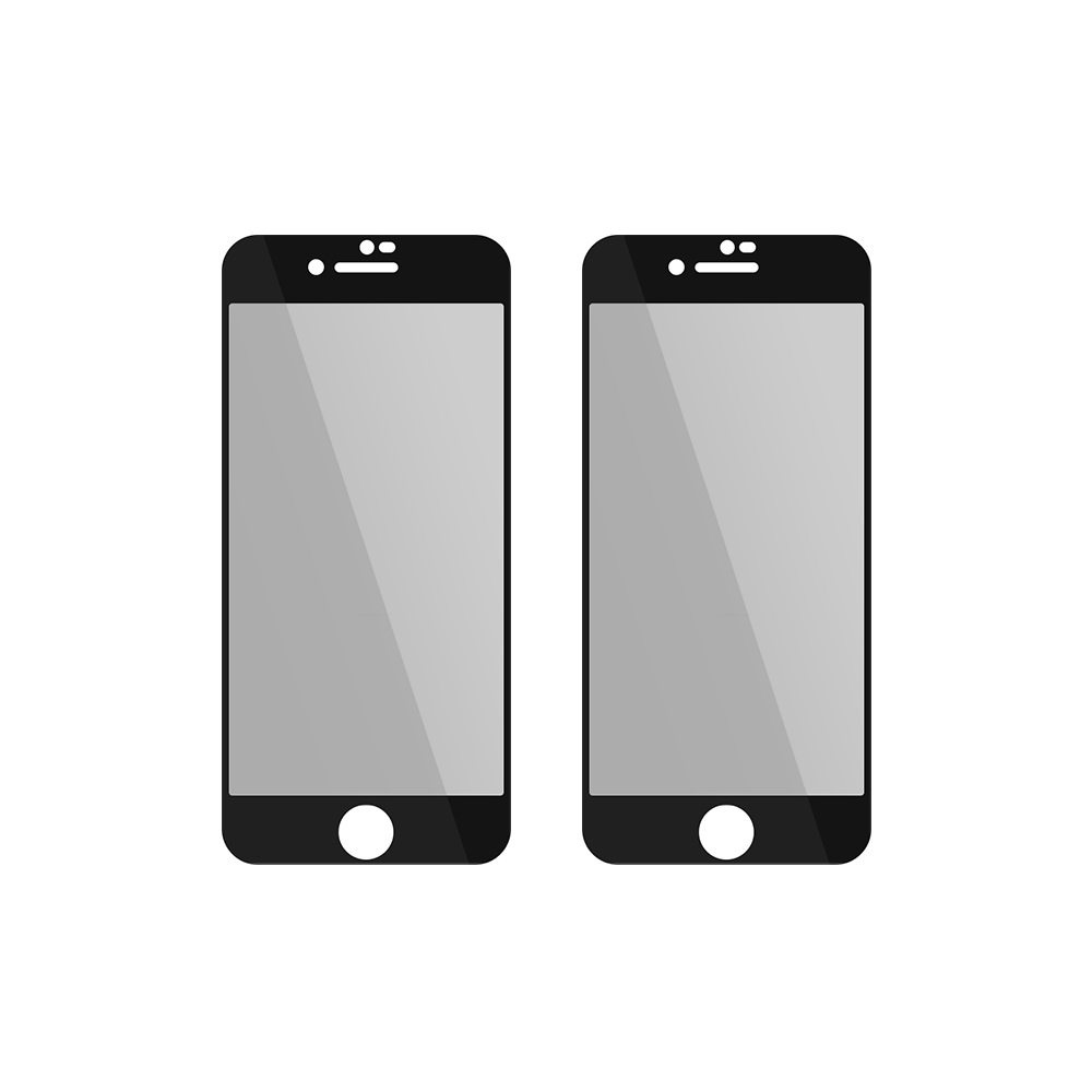 투에이비 사생활보호 풀커버 강화유리 휴대폰 액정보호필름 블랙 2p, 1세트