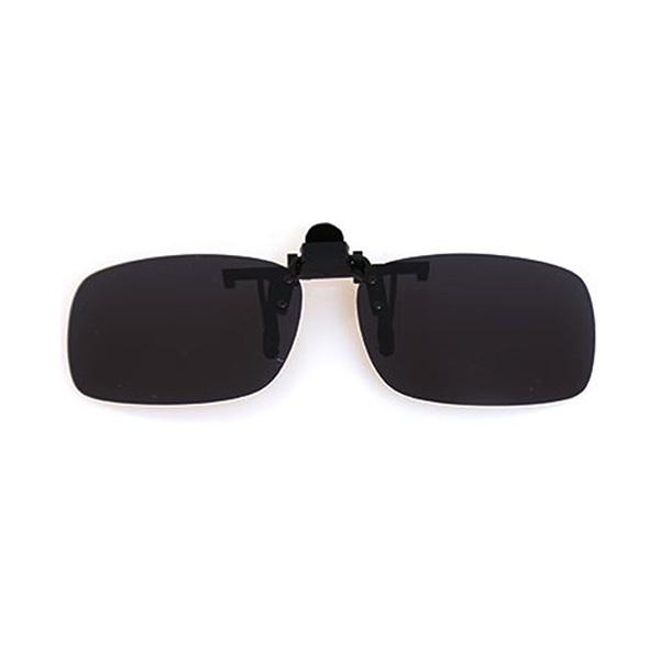 K-FEEL 편광 클립 870 사각형 선글라스 + 케이스 + 클리너, 그레이(선글라스), 랜덤발송(클리너)