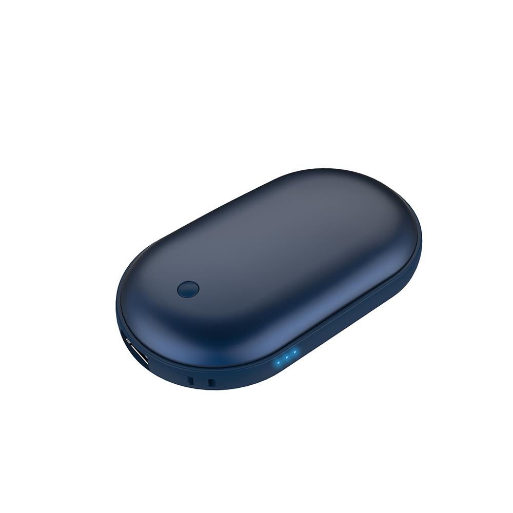 애니클리어 USB 충전식 보조배터리 케이블 겸 휴대용 손난로 전기 핫팩, iGPB-HOT3, 코발트블루