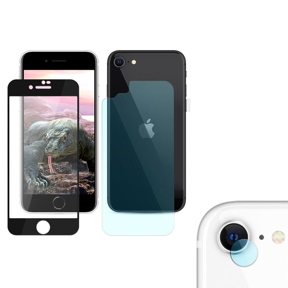투에이비 5D 강화유리 휴대폰 보호필름 전면 블랙 + 후면 + 카메라, 1세트