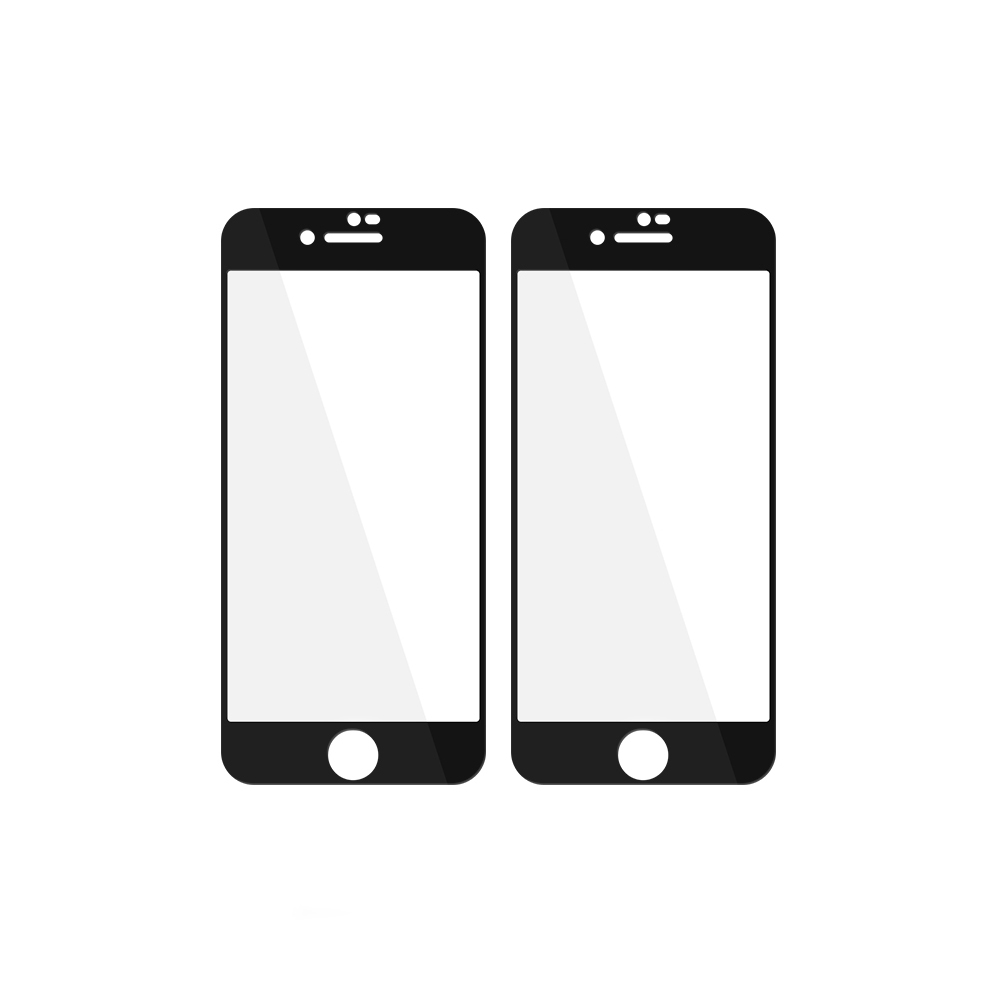 투에이비 5D 풀커버 강화유리 휴재폰 액정보호필름 블랙, 2개
