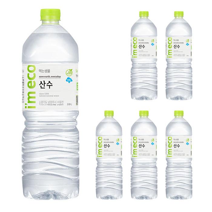 I am eco 산수 생수, 2L, 6개