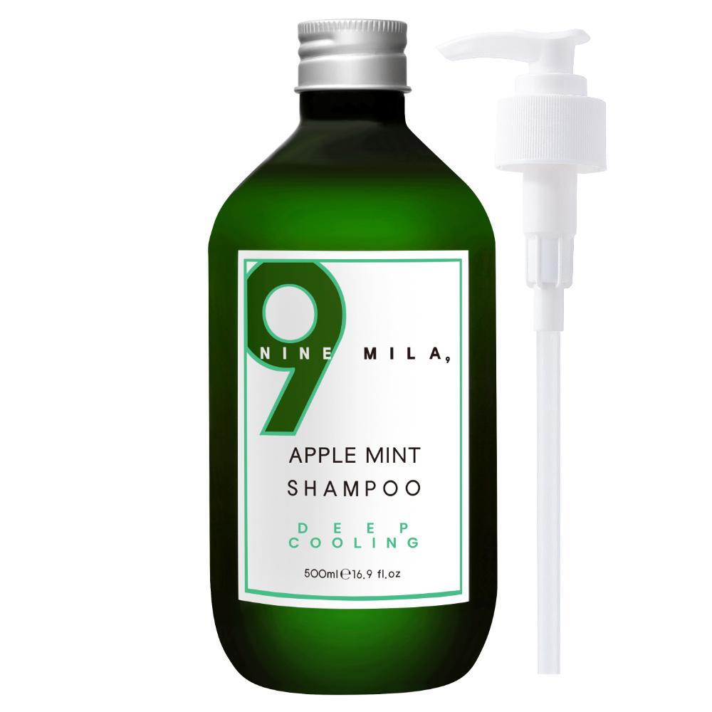 나인밀라 쿨링샴푸 애플민트, 500ml, 1개