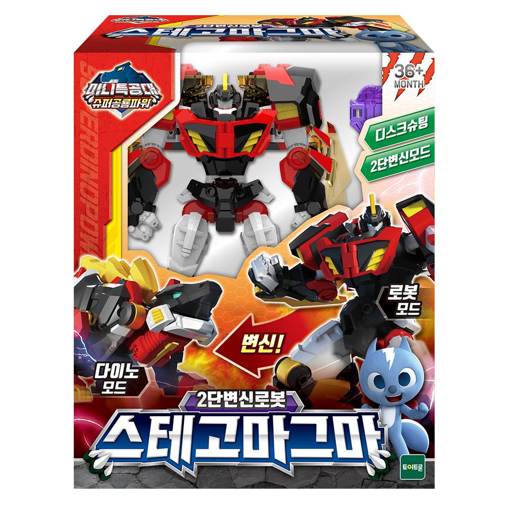 미니특공대 슈퍼공룡파워 스테고마그마 로봇장난감, 혼합색상