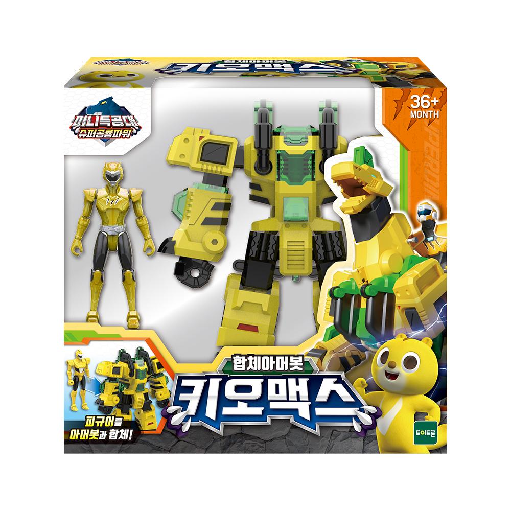 미니특공대 슈퍼공룡파워 키오맥스 로봇장난감, 혼합색상