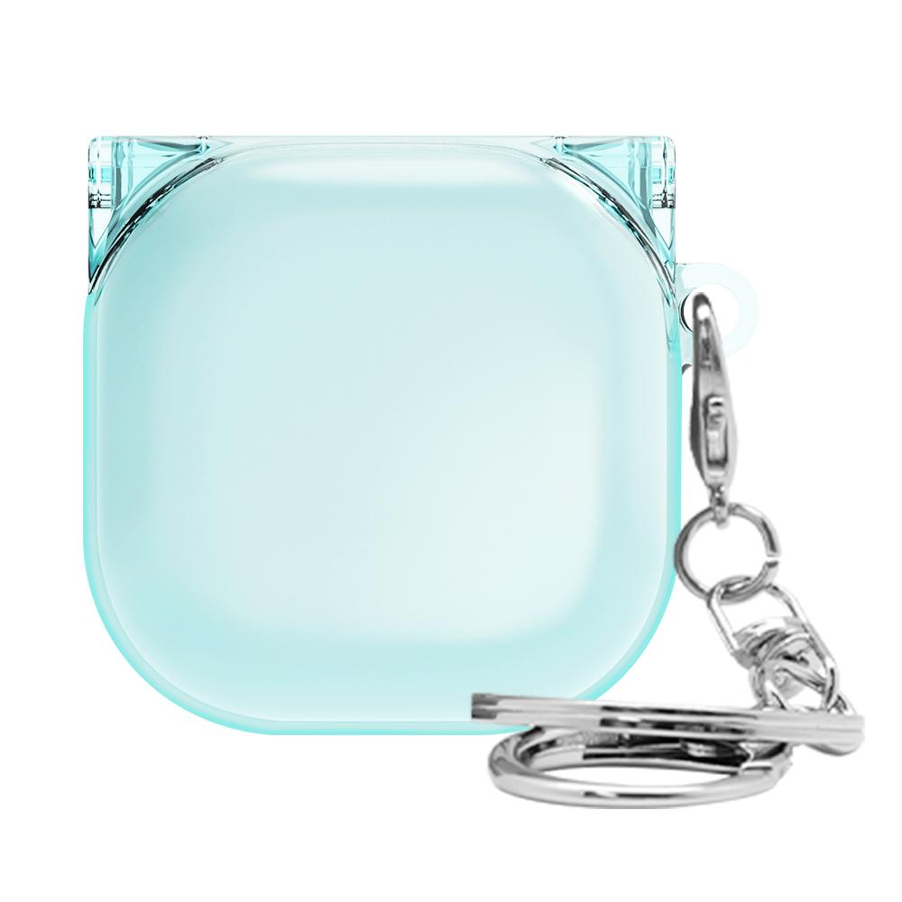 솔리드 투명 갤럭시 버즈 라이브 케이스, 단일상품, 클리어블루