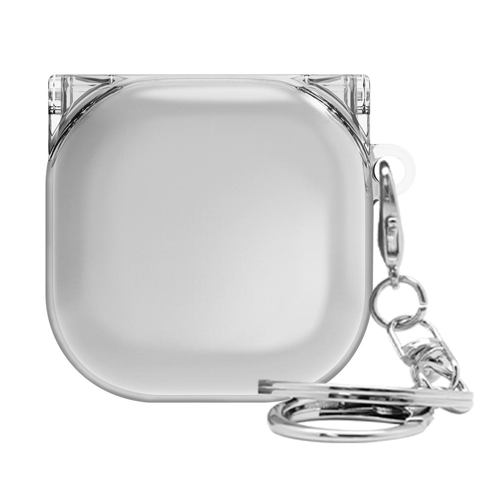 솔리드 투명 갤럭시 버즈 라이브 케이스, 단일상품, 클리어그레이
