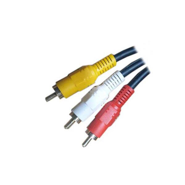 광 디지털 오디오 옵티컬 케이블 TOSLINK RCA 젠더 3RCA 수 3m, 단일상품