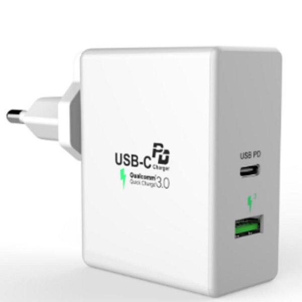 멀티 USB PD 2포트 고속 충전기 C3, 화이트, 1개