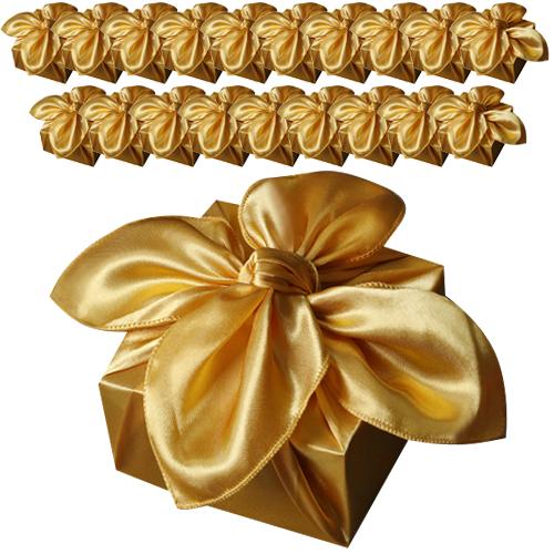 통샵 황금 공단 보자기 88 x 88 cm, 골드, 20개