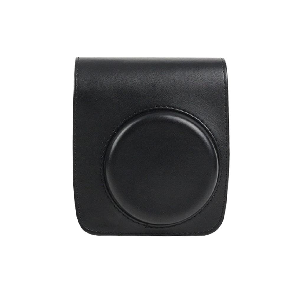 CAIUL 인스탁스 미니90 카메라 전용 가죽 케이스 블랙, 단일상품, 1개