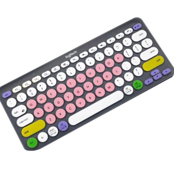 로지텍 컬러 키스킨 영문 K380, 버라이어티 핑크, 1개