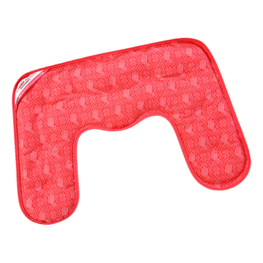 핫앤핫 아로마 허브 순면 냉온 찜질팩 목어깨용 RED, 1개