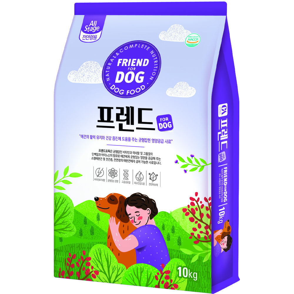 제일펫푸드 전연령 프렌드 포 독 강아지 건식사료, 곡물, 10kg