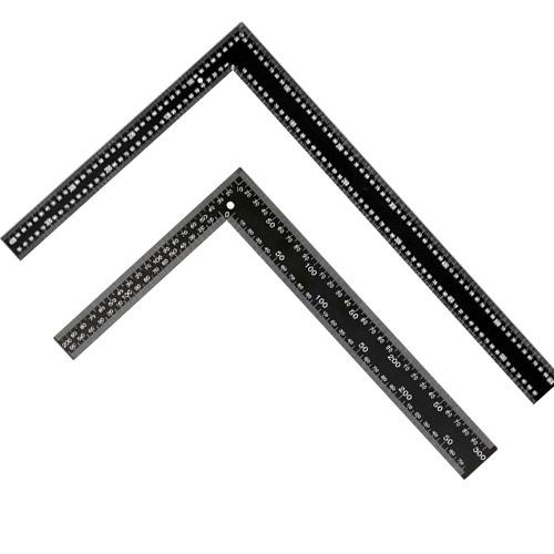 O-ON 스틸 양면 직각자 200 x 300 mm + 400 x 600 mm 세트, 1세트