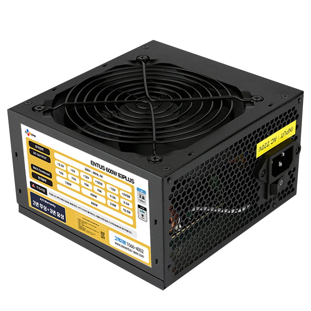 엔투스 파워서플라이 600W 83PLUS