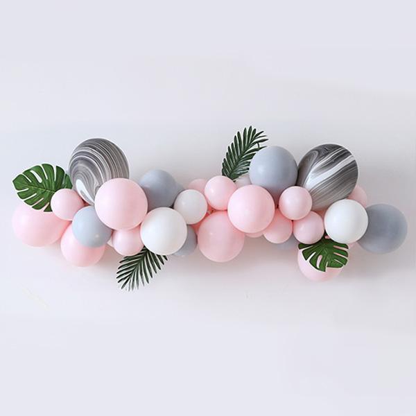 마켓감성 핑크핑크 마카롱 생일파티 풍선 세트, 타입1, 1세트