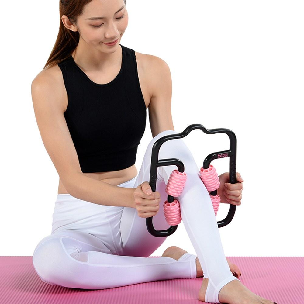 뭅뭅 바디핏 레그 마사지 롤러, 핑크, 1개