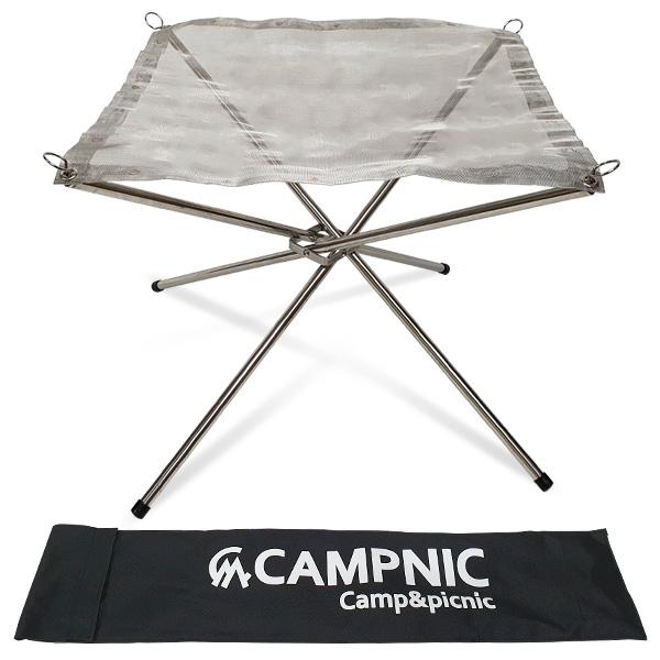 캠프닉 캠핑용 장작철망 화로대 + 보관가방, 1개
