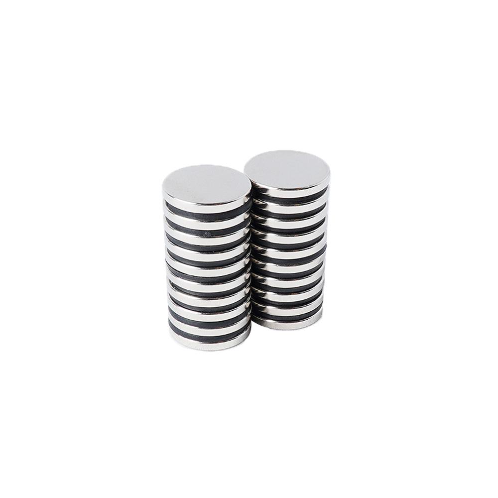 페인트인포 초강력 네오디움 원형자석 지름 20mm x 두께 2.5mm, 실버, 20개