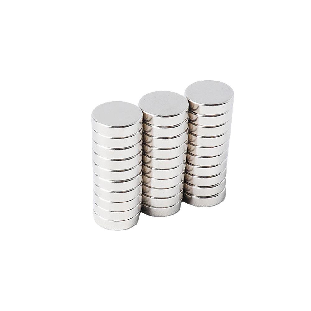 페인트인포 초강력 네오디움 원형자석 지름 12mm x 두께 3mm, 실버, 30개