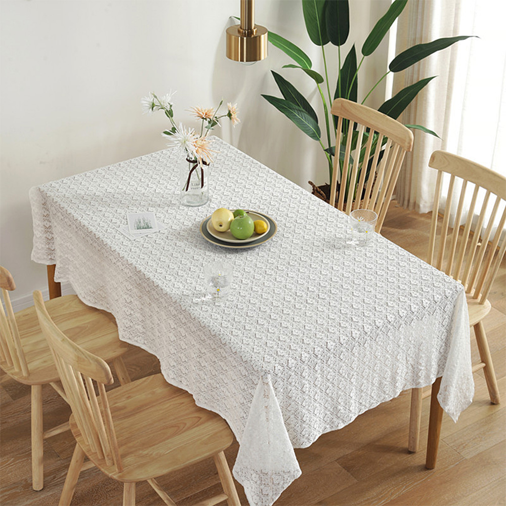 몽트노블 로맨틱 레이스 식탁보, 4인용(150 x 180 cm), 화이트