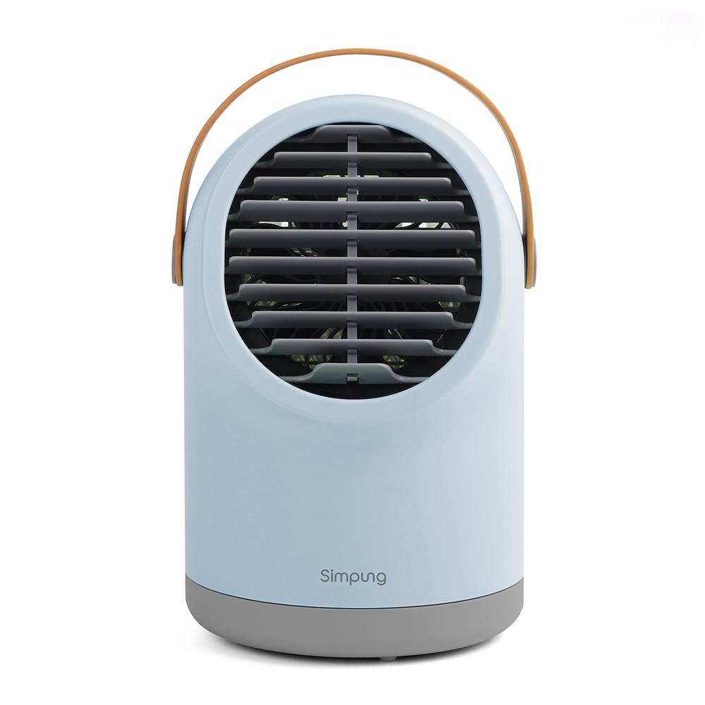 심풍 휴대용 미니 아이스 냉풍기 블루, SKCF-8MB