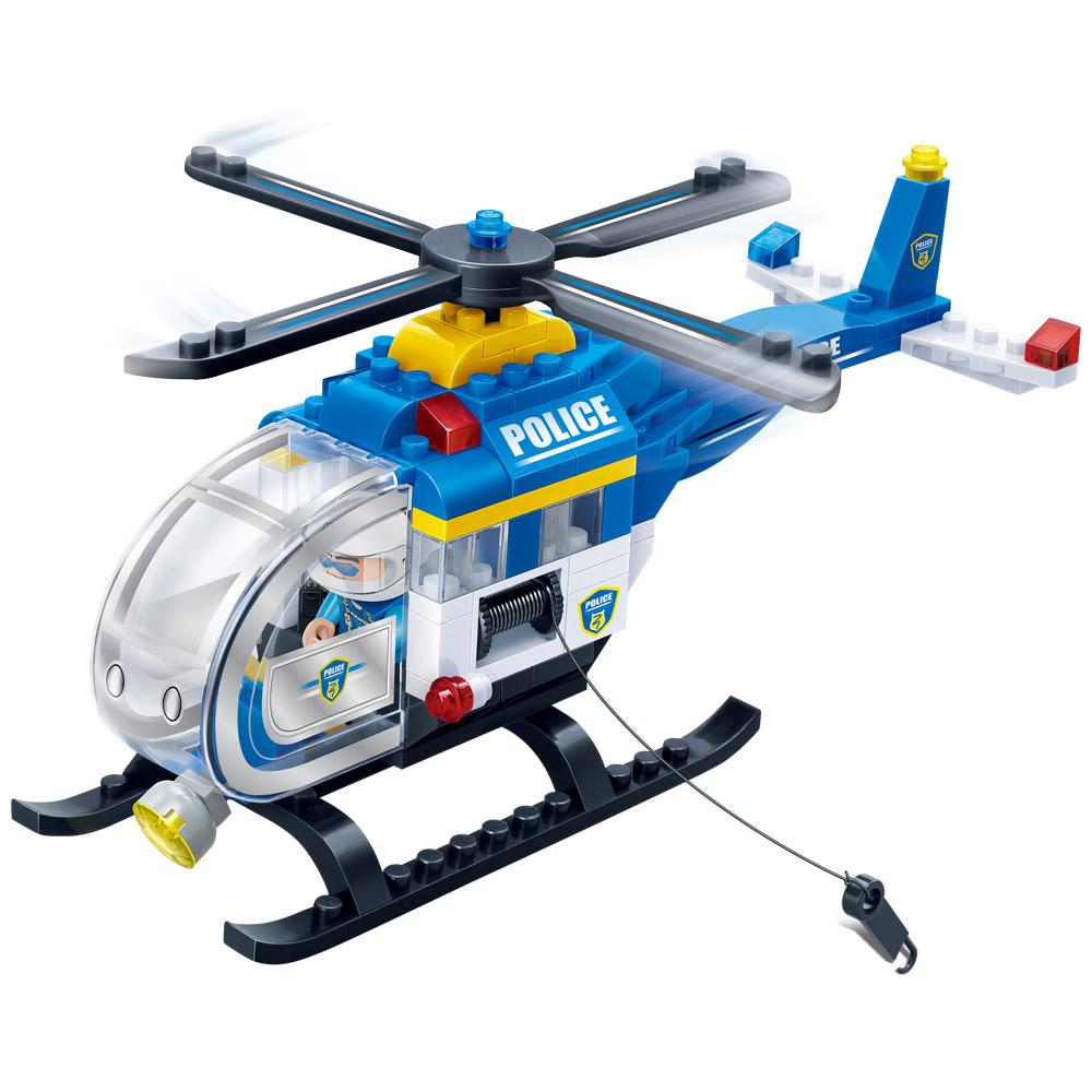 반바오 경찰 헬리콥터 블록 BO7008, 혼합색상