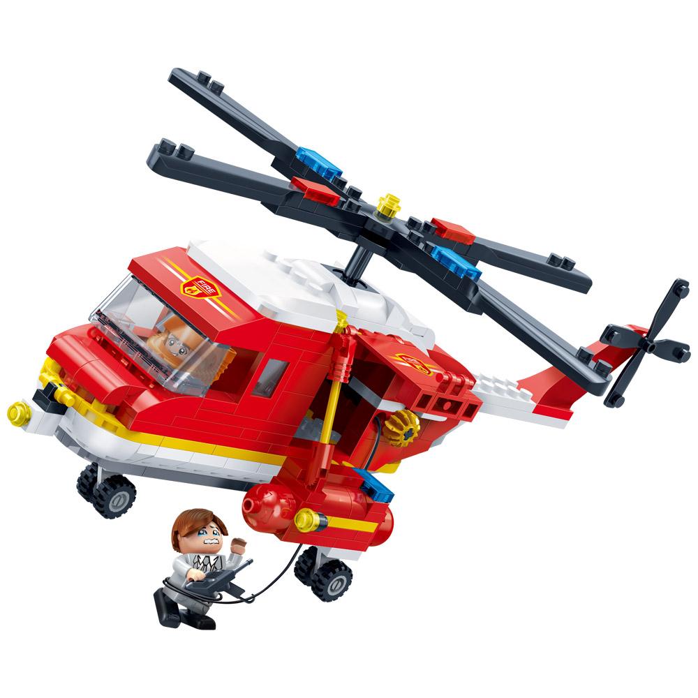 반바오 소방 헬리콥터 블록 BO7128, 혼합색상