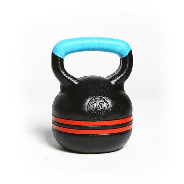 반석스포츠 K 케틀벨 + 그립 테이프 세트, 블랙(케틀벨), 하늘색(테이프), 14kg