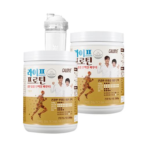 칼로바이 라이프프로틴 단백질쉐이크 2p + 쉐이커, 1세트