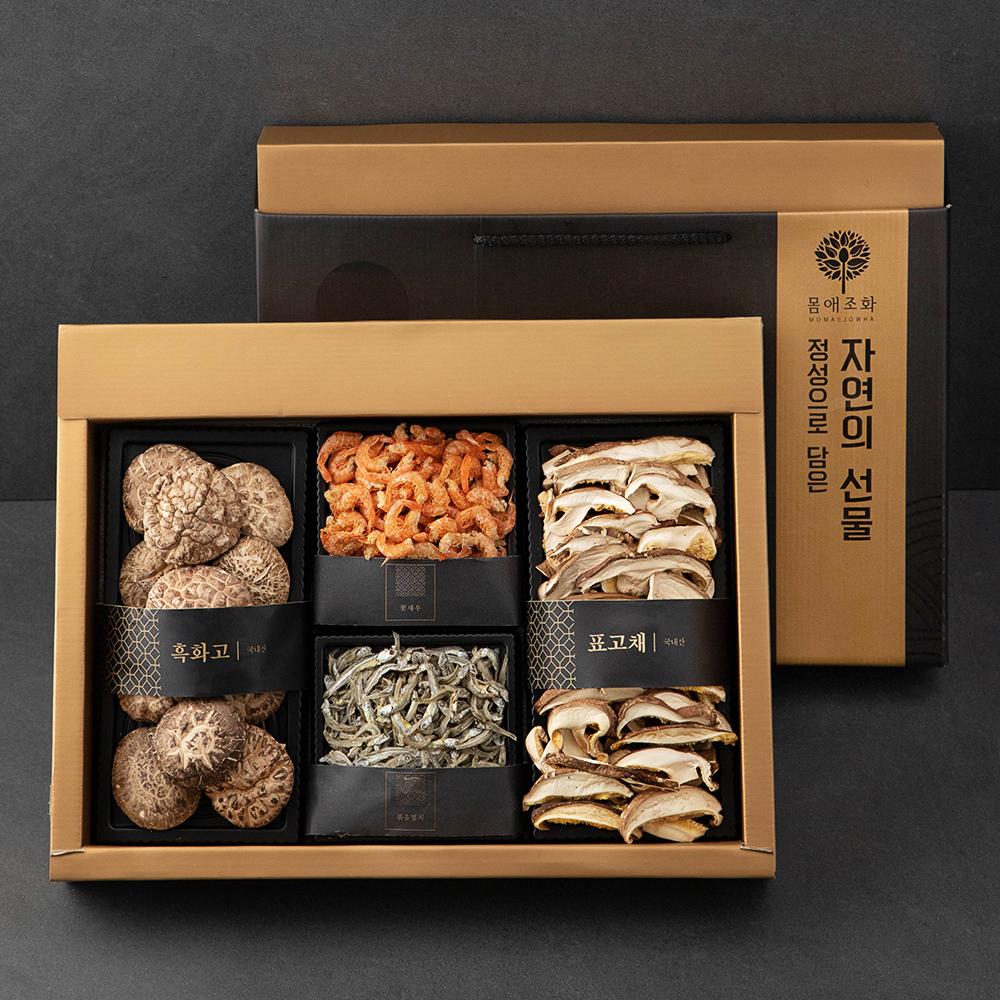 [몸애조화] 몸애조화 국내산 흑화고 버섯 건어물 혼합 선물세트, 1세트 - 랭킹1위 (26900원)