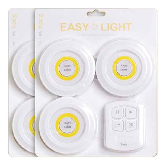 사다 이지라이트 LED 무선 무드등 6p + 무선리모컨 2p 세트
