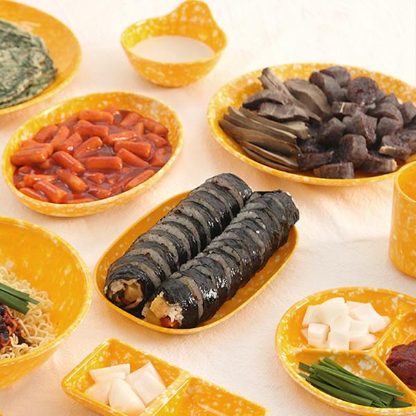레트로 분식집 커플 접시세트, 1세트, 9종