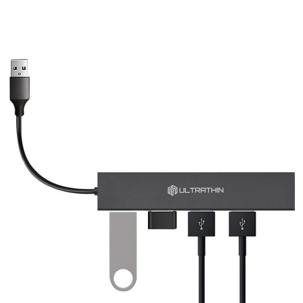 씽크웨이 울트라씬 4포트 USB3.0 허브 TYPE A CORE D4A, 혼합색상