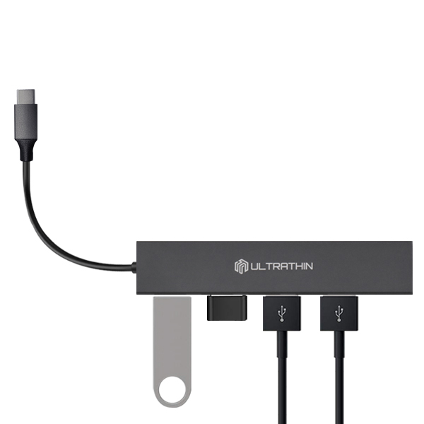 씽크웨이 울트라씬 4포트 USB3.0 허브 TYPE C CORE D4C, 혼합색상