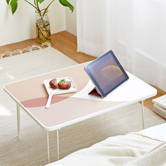 [룸앤홈] 룸앤홈 모먼트 접이식 테이블, 핑크 - 랭킹90위 (16320원)