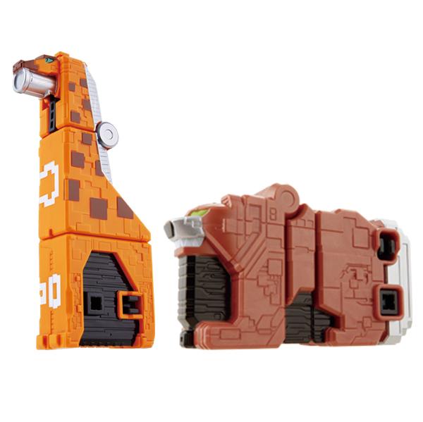 반다이남코 파워레인저 애니멀포스 큐브기린&큐브베어 로봇장난감, 혼합색상