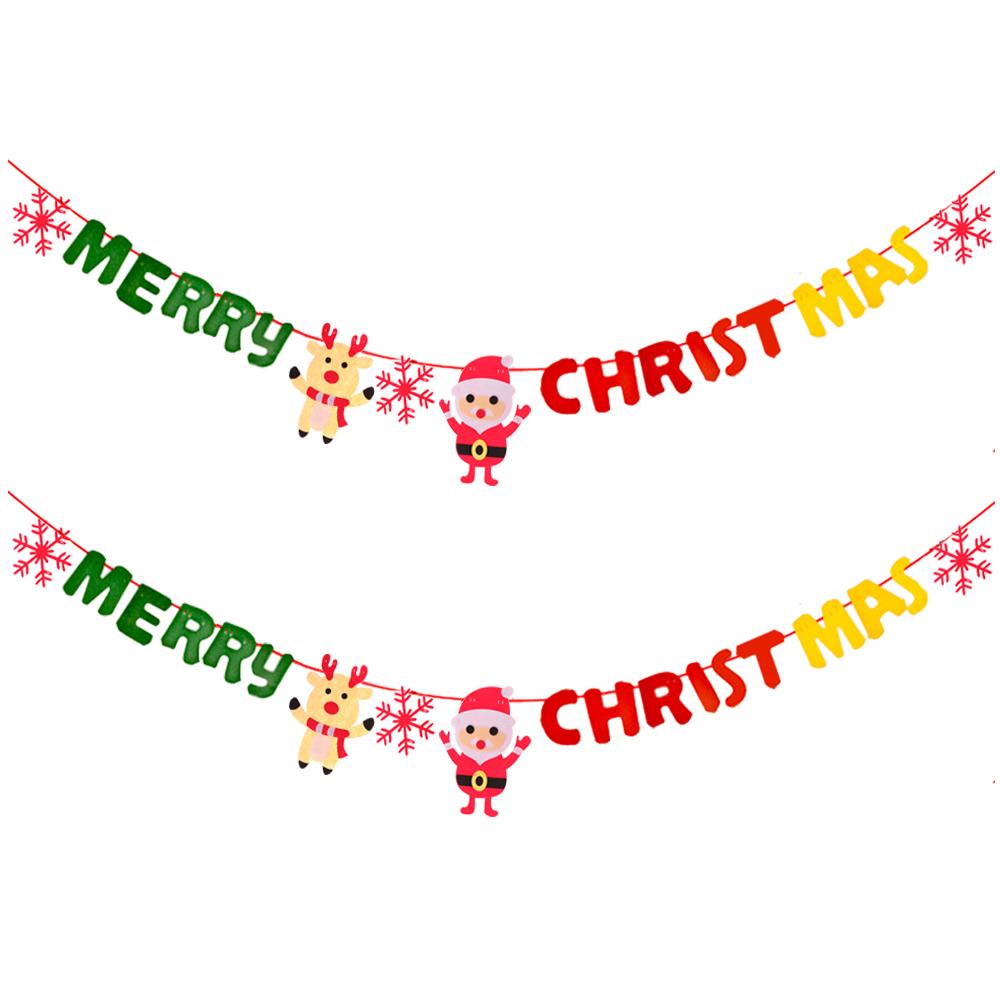 펠트 크리스마스 가랜드 2p, 산타사슴