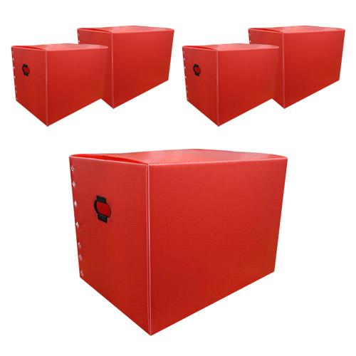 바른산업 이사박스 7호 일반형, 빨강, 5개