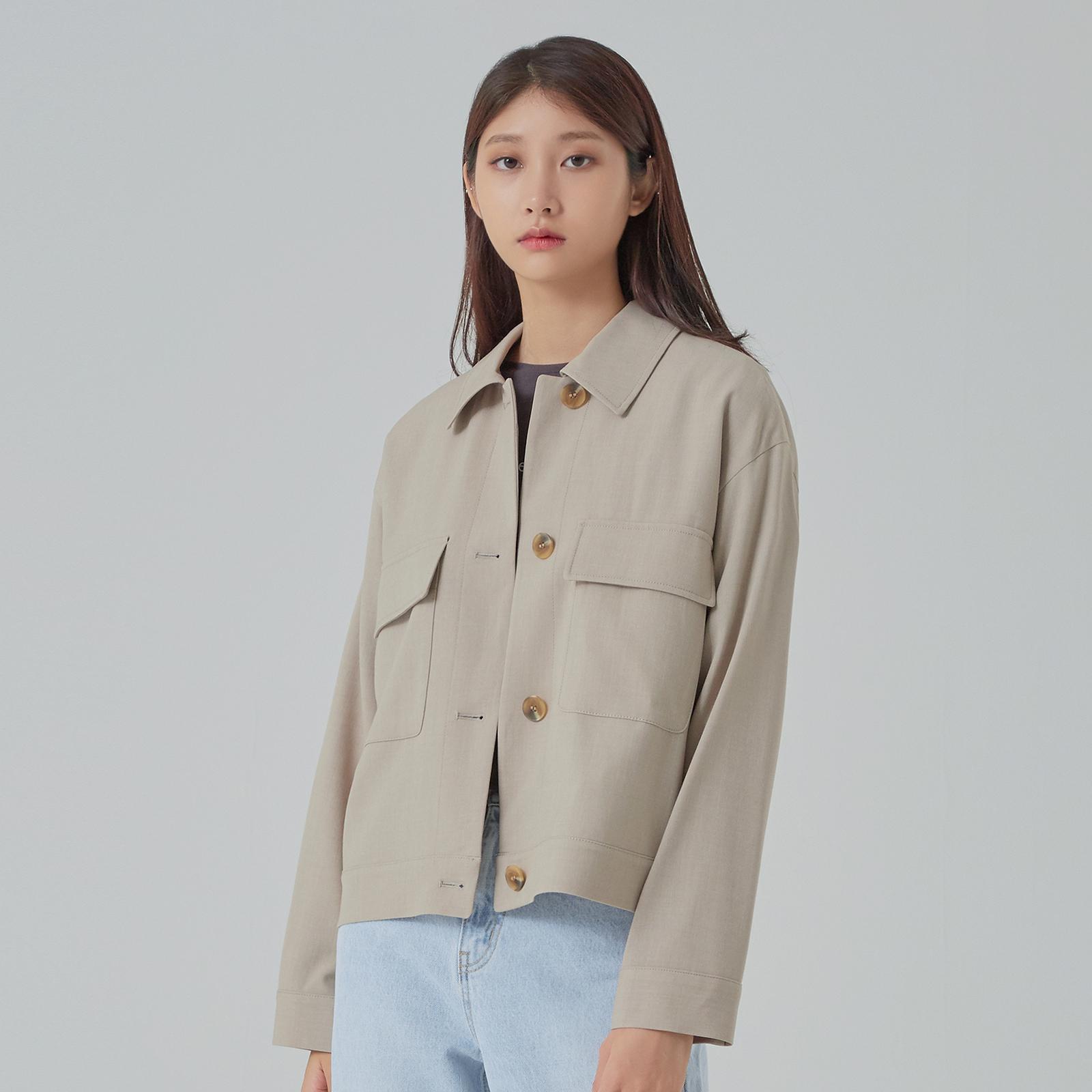 미쏘 여성용 숏 트러커 재킷
