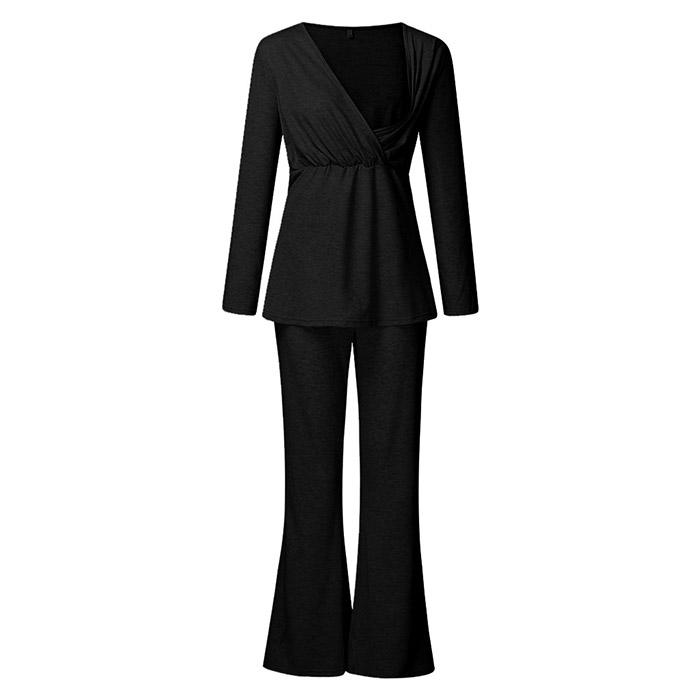 아리코 셋업 수유 잠옷 긴소매 + 바지 세트