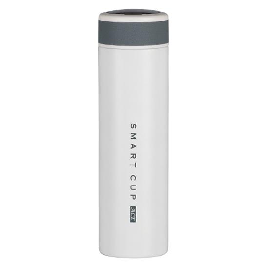 에이비티 온도표시 보온보냉 텀블러, 화이트, 500ml