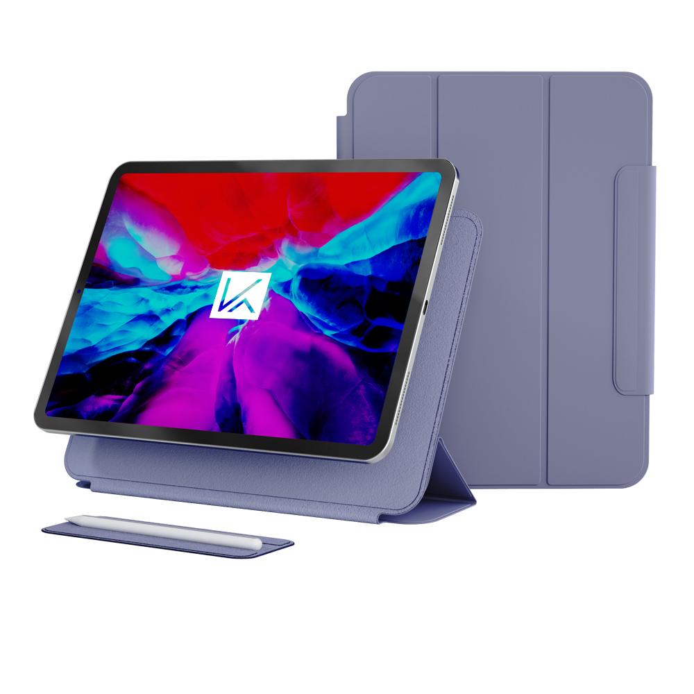 케이안 펜슬커버 탈부착형 스마트 폴리오 태블릿PC 케이스, 라벤더