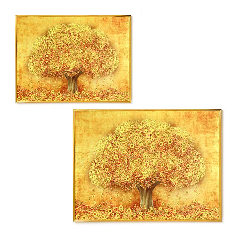 조아트 리치리치 황금돈나무 액자 2종 세트, 골드